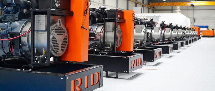 diesel generators made by rid in germany